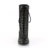 vegan 7,5 cm VIVIKA-200 Victorian støvletter med snøring
