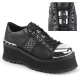 vegan 7 cm GRAVEDIGGER-02 platå gotisk sko til menn