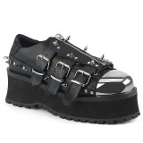 vegan 7 cm GRAVEDIGGER-03 platå gotisk sko til menn