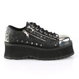 vegan 7 cm GRAVEDIGGER-04 platå gotisk sko til menn