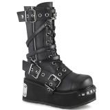 vegan 8,5 cm TRASHVILLE-250 demonia støvler - unisex platåstøvler