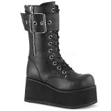 vegan 9,5 cm PETROL-150 demonia støvler - unisex platåstøvler