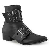 vegan WARLOCK-55 spisse boots - herre winklepicker boots 2 spenner