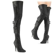 vegan boots 13 cm SEDUCE-3019 lårhøye boots med spenner