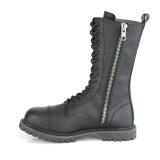 vegan skinn RIOT-14 stål tå cap støvler - demonia militærstøvler